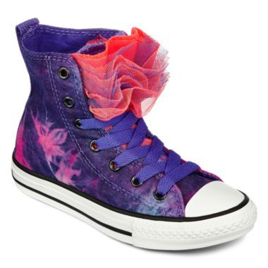 3505b3faf24e Converse All Star Chuck Taylor Party Girls High-Top Sneakers - Little Kids  found at  JCPenney