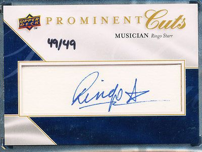 2009 UPPER DECK PROMINENT CUTS MUSICIAN RINGO STARR AUTO AUTOGRAPH 49/49 BEATLES https://t.co/eyVcbAvW9L https://t.co/5ChOwlp81n