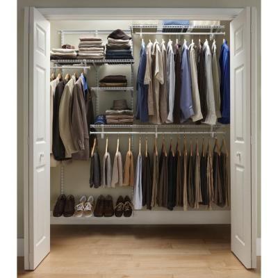 Closetmaid shelftrack 5 ft 8 ft closet organizer kit - Closetmaid design tool home depot ...