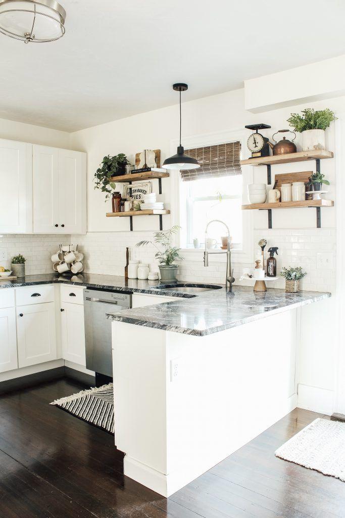 Modern Farmhouse Kitchen Makeover Reveal - Micheala Diane Designs
