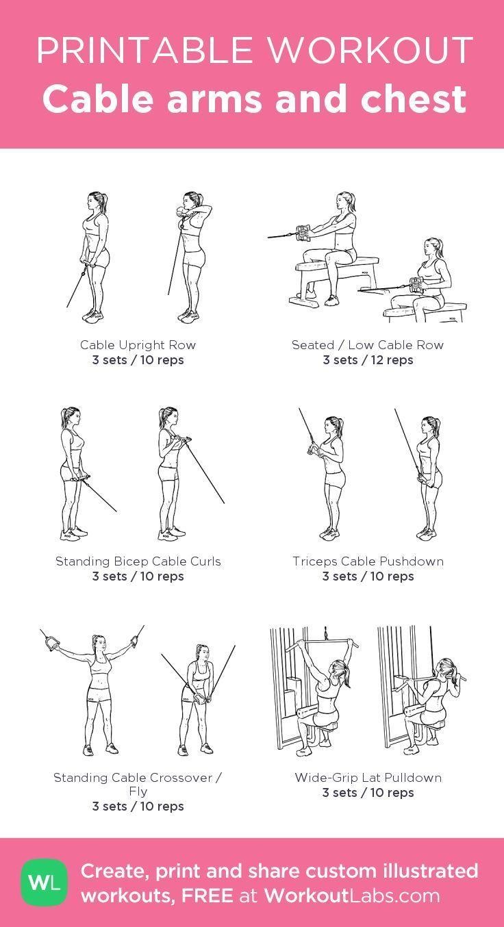 Kabelarme und Brust: mein Workout bei WorkoutLabs.com #gymworkouts
