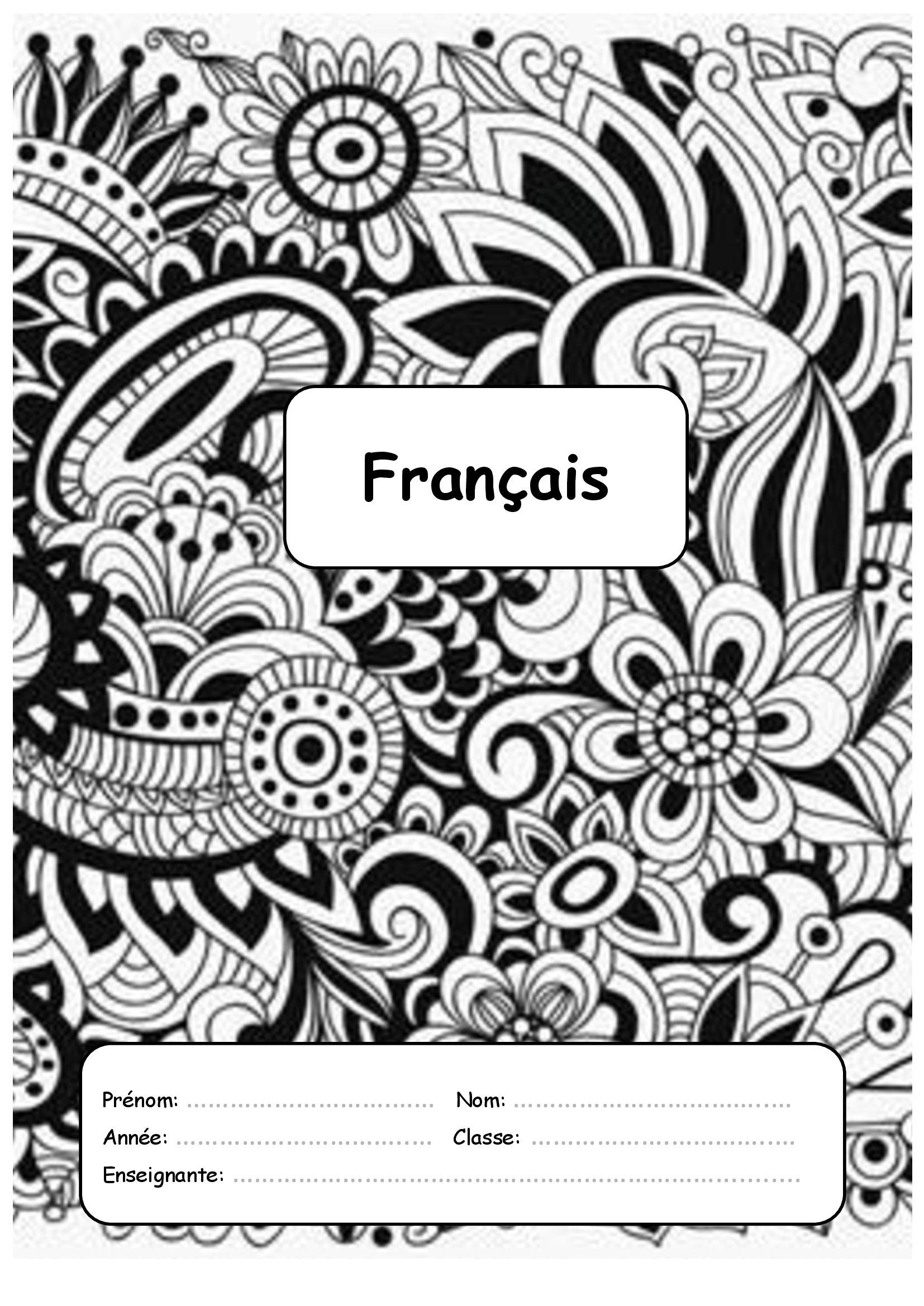 Résultat De Recherche D Images Pour Page De Garde Français