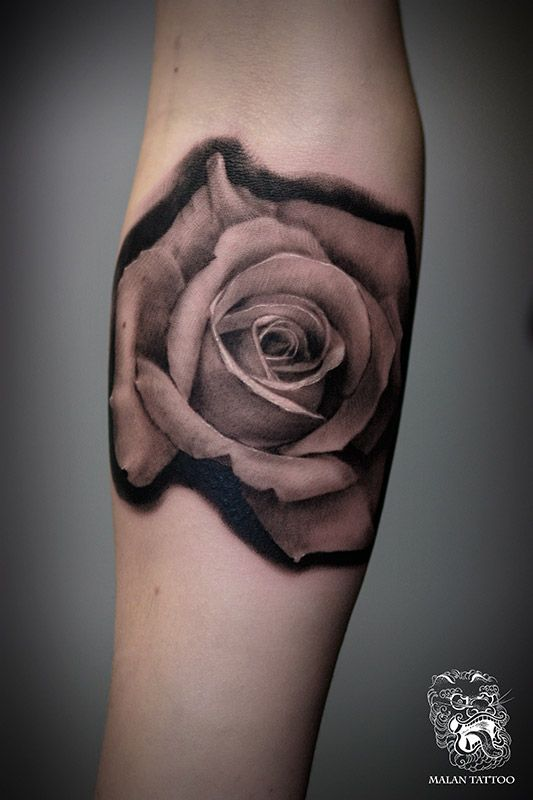 Realistic Rose Tattoo Black And Grey Black And Grey Realistic Rose