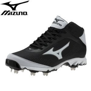 Mizuno 9-Spike Vapor Elite 7, Mid, Black/White | Metal baseball cleats and  Products