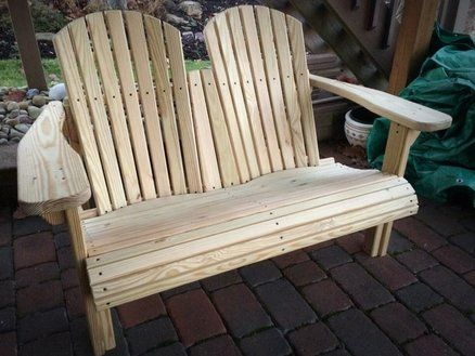 Dual Adirondack Bench For Mom Dad Woodcraft Woodworkingadirondack Woodworking Plans Woodworking Bench Woodworking Basics