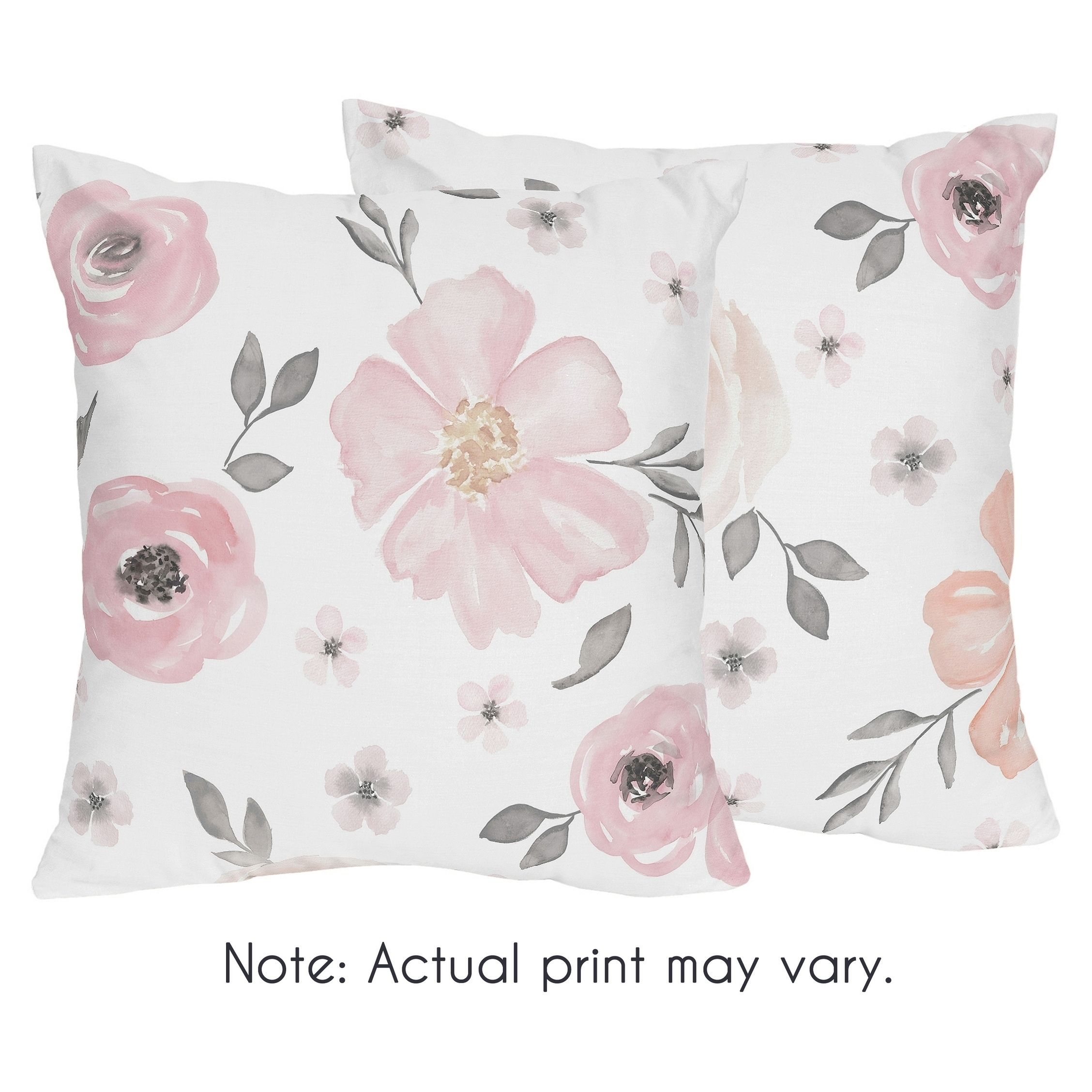 Baby Pink Watercolor Paisley 2 Pillow