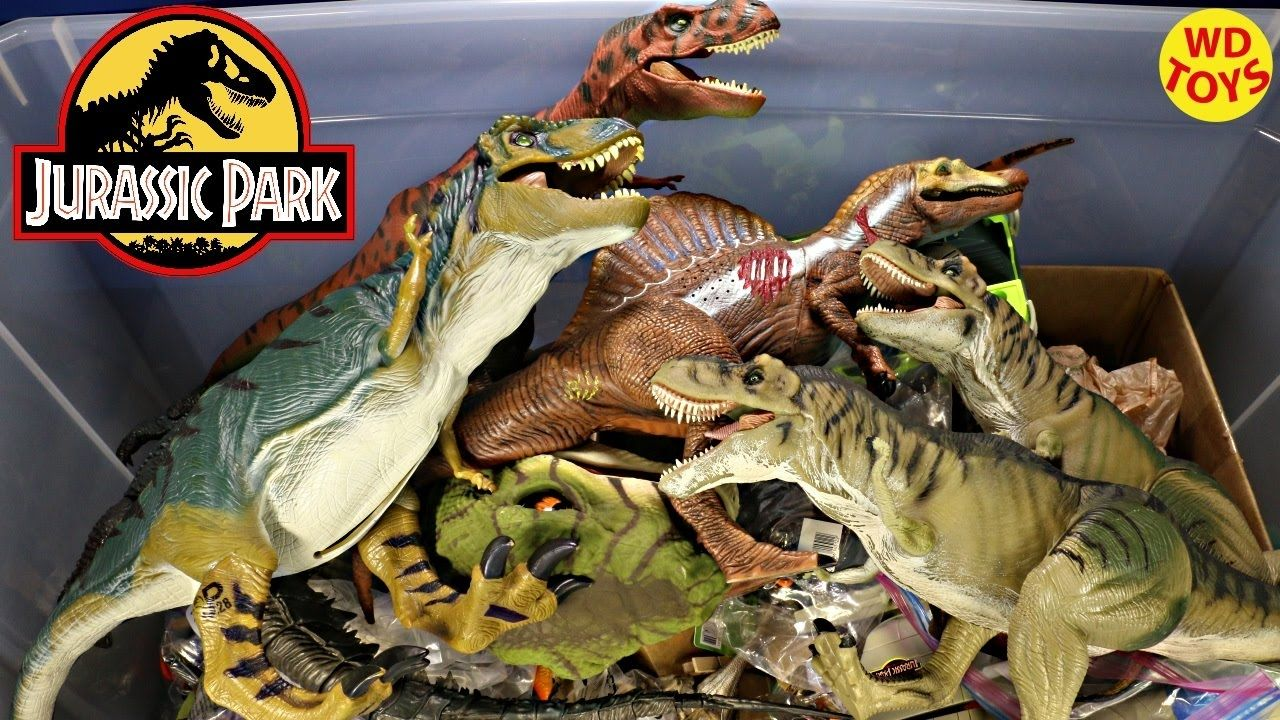 New Giant Box Jurassic Park Surprise Toys / Spinosaurus, Trex ...