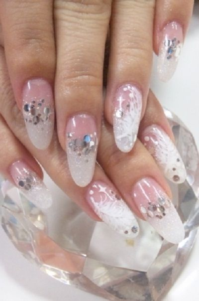 french manicure designs diamonds | Nails | Pinterest ...