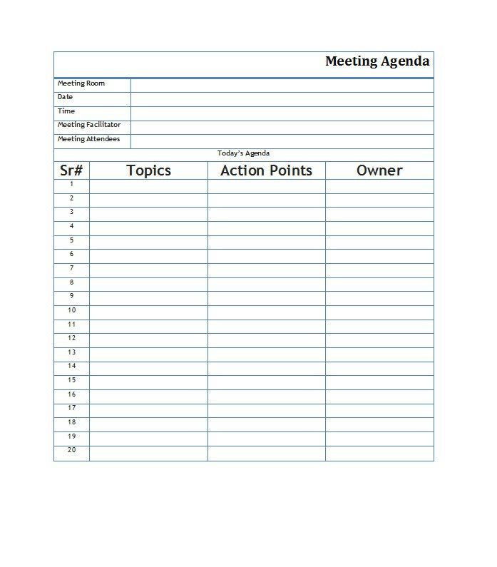 Meeting Agenda Template   Office    Template