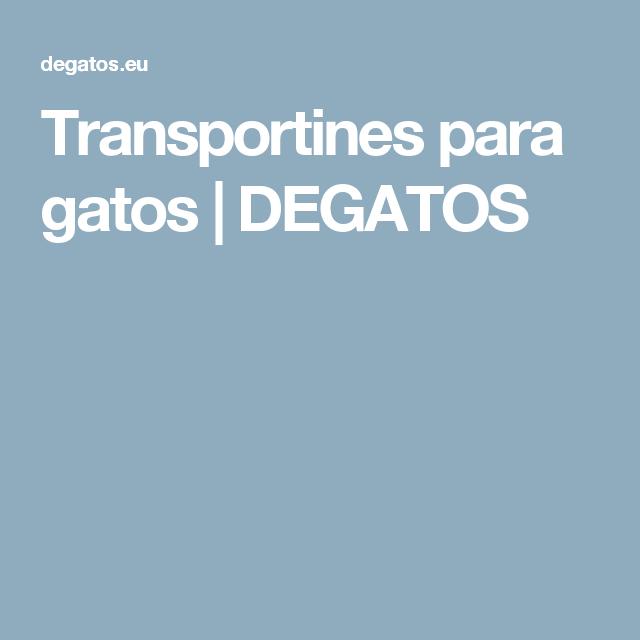 Transportines para gatos | DEGATOS
