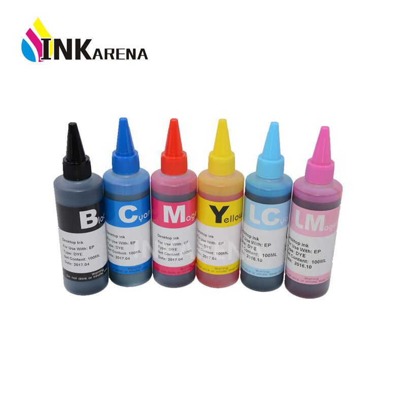 600ml T0481 Dye Ink For Epson Stylus Photo R200 R220 R300 R320