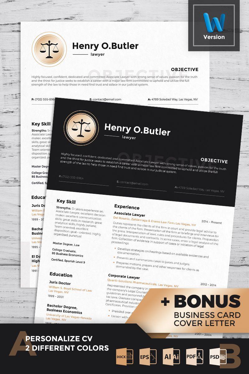 Henry o butler lawyer resume template 74122 resume