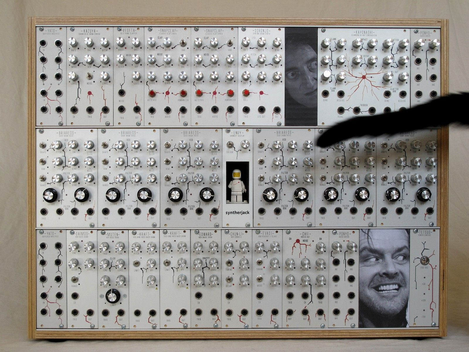 Modular synth photo with DIY eurorack blanks   SyntherJack