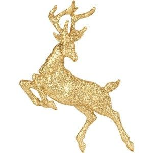 Leaping Model Reindeer Google Search Glitter Reindeer Gold Poster Gold Christmas Decorations