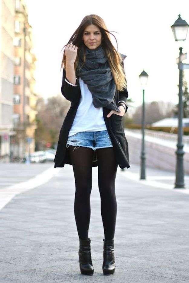 e469033942 Cómo llevar pantalones cortos en otoño invierno  fotos de los looks (10 31)