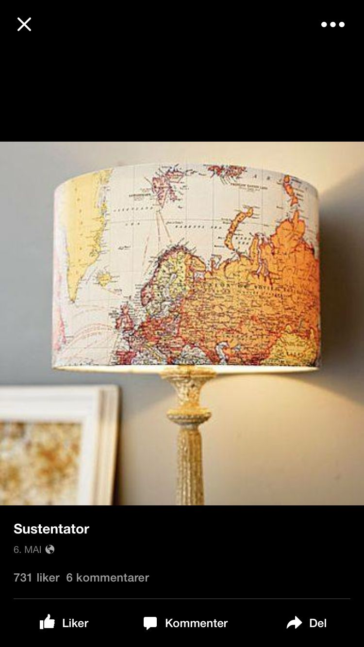 Map lamp shade