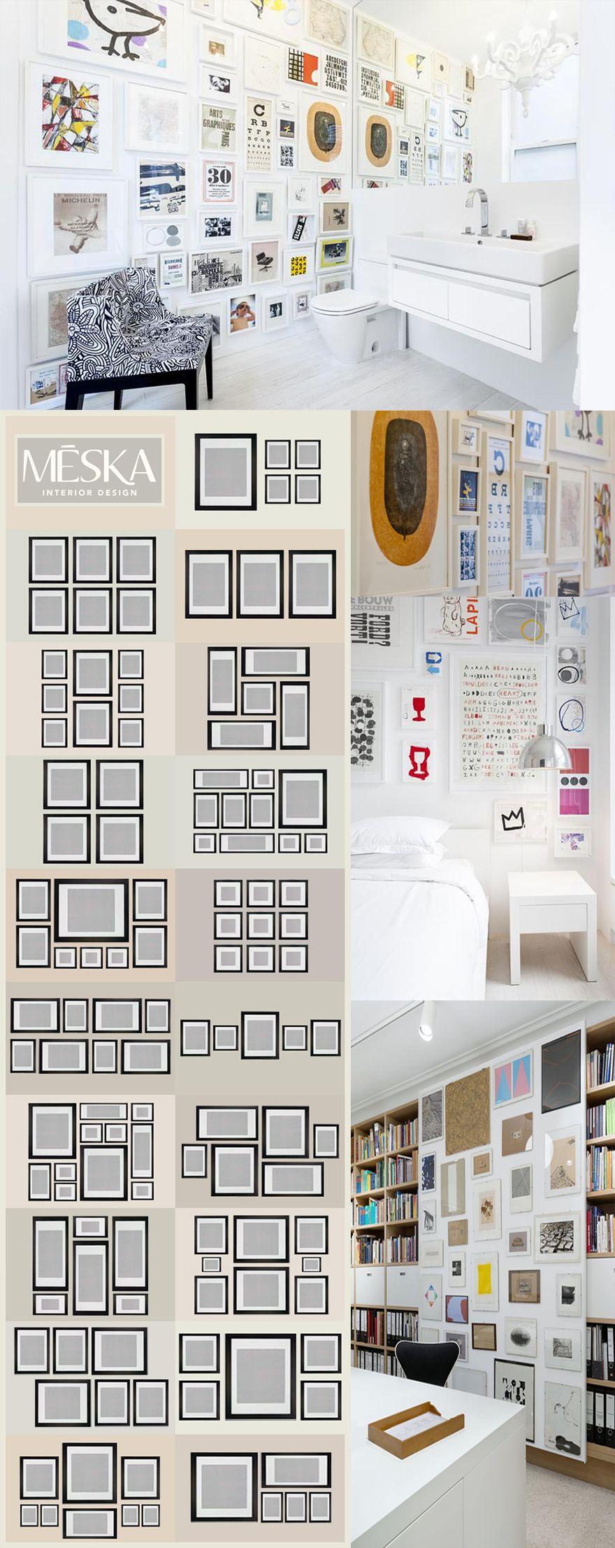 comment accrocher des cadres au mur tout en donnant du style a la pi ce voici quelques exemple. Black Bedroom Furniture Sets. Home Design Ideas