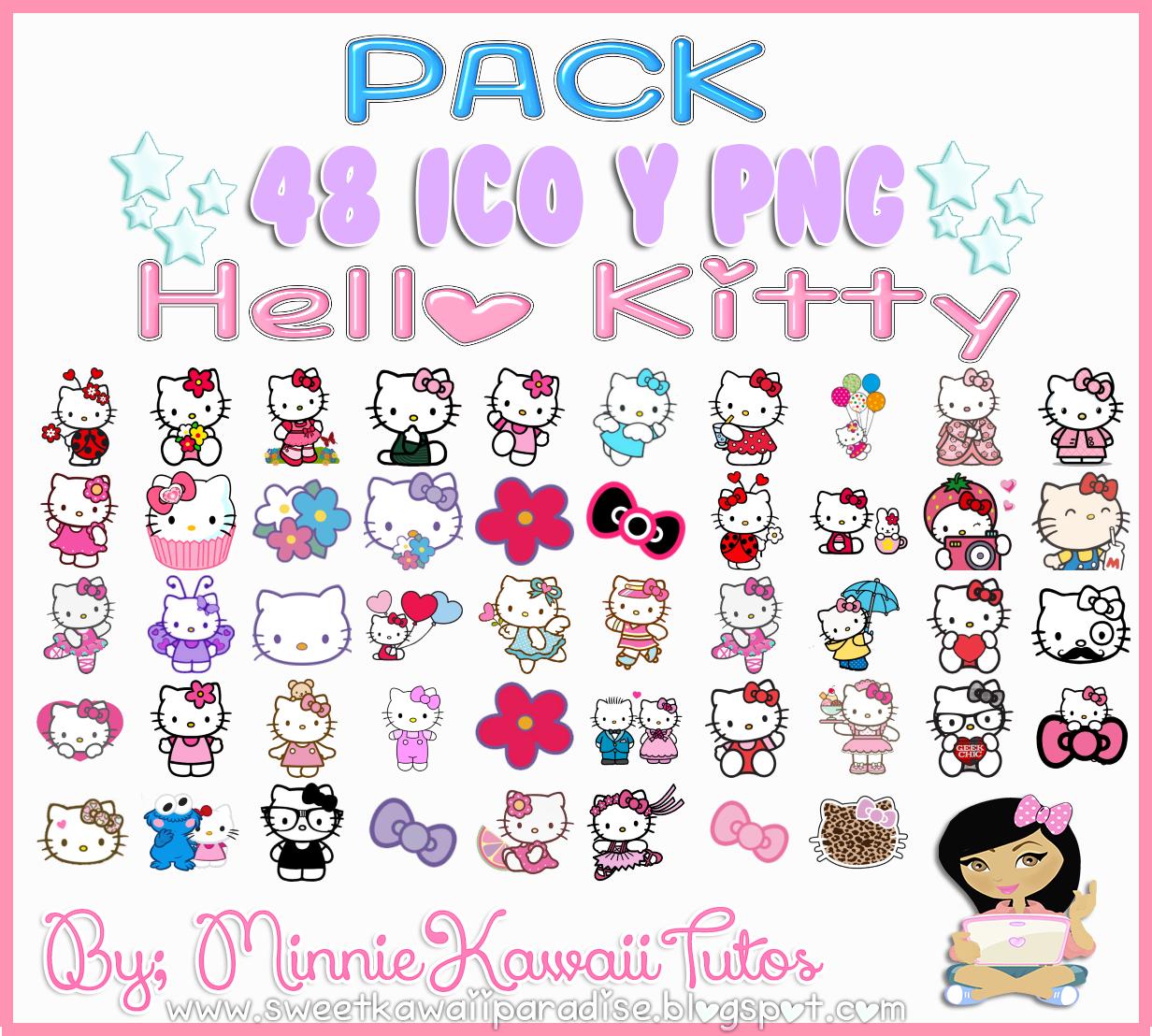 Pack De Iconos Hello Kitty by MinnieKawaiiTutos.deviantart
