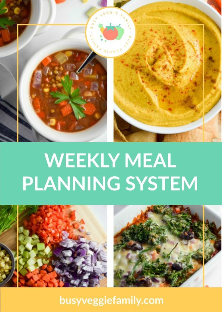 Weeknight Meal Planning System Vegetarian recipes