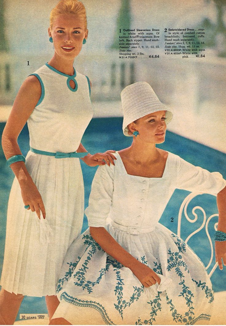 Fashion From The Sears Catalogue 1963 60ies Fashion Mode Bilder