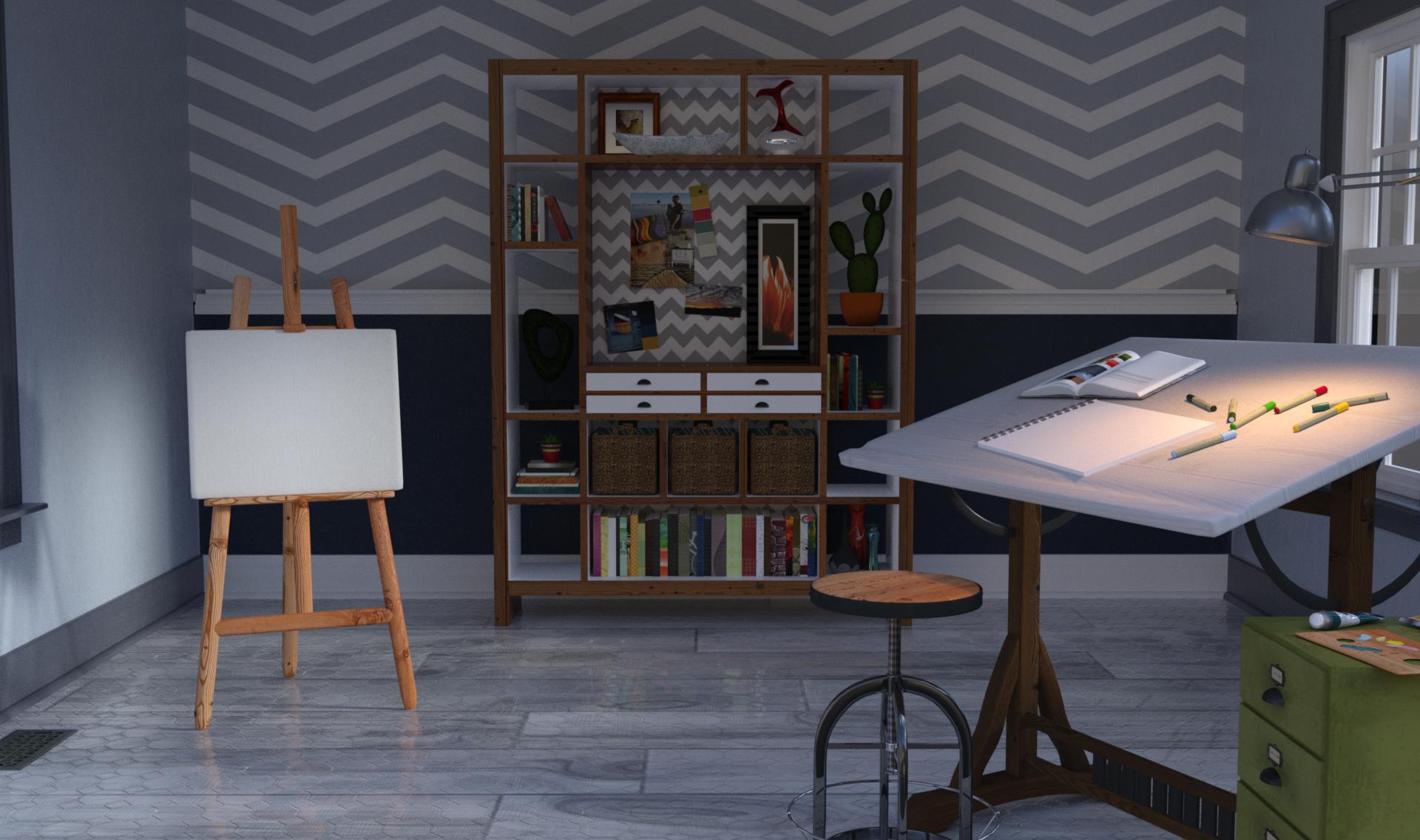 Anime Background Empty Room