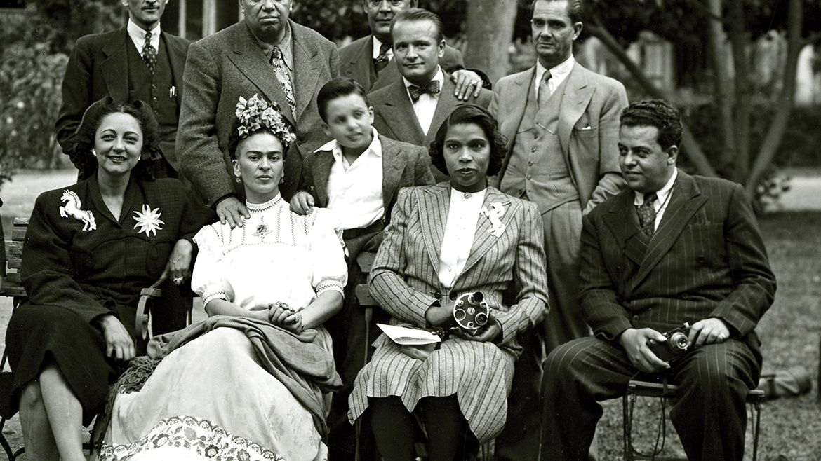 Marian Anderson With Fellow Artists Frida Kahlo Diego Rivera