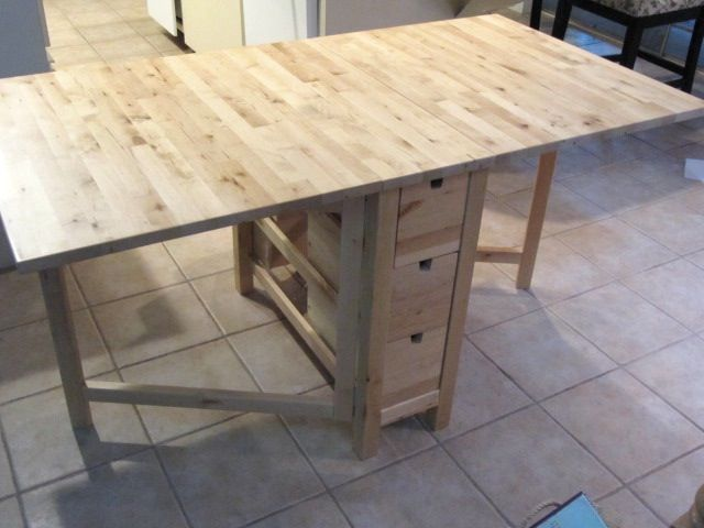 Ikea sewing table both sides fold down http3bpspot foldable ikea table as a sewing room cutting table with built in storage watchthetrailerfo