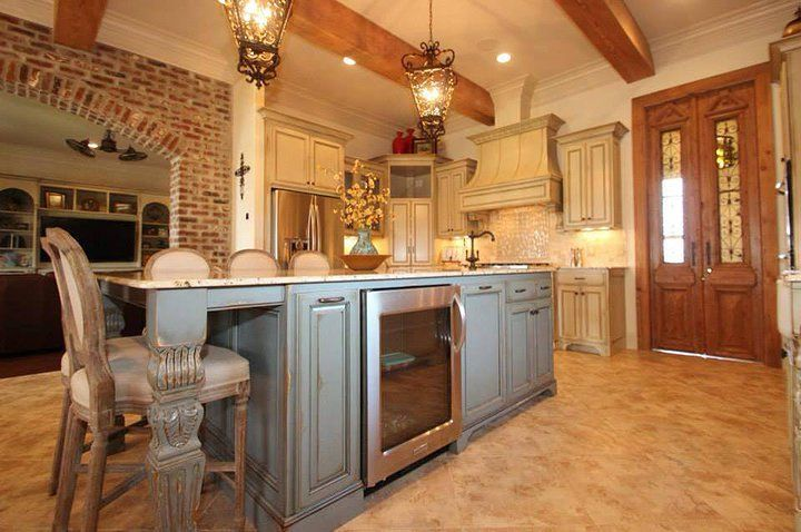 Country Island Kitchen Plans