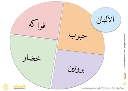 صحني مقسم حسب نوع الغذاء 1 Pie Chart Chart Diagram