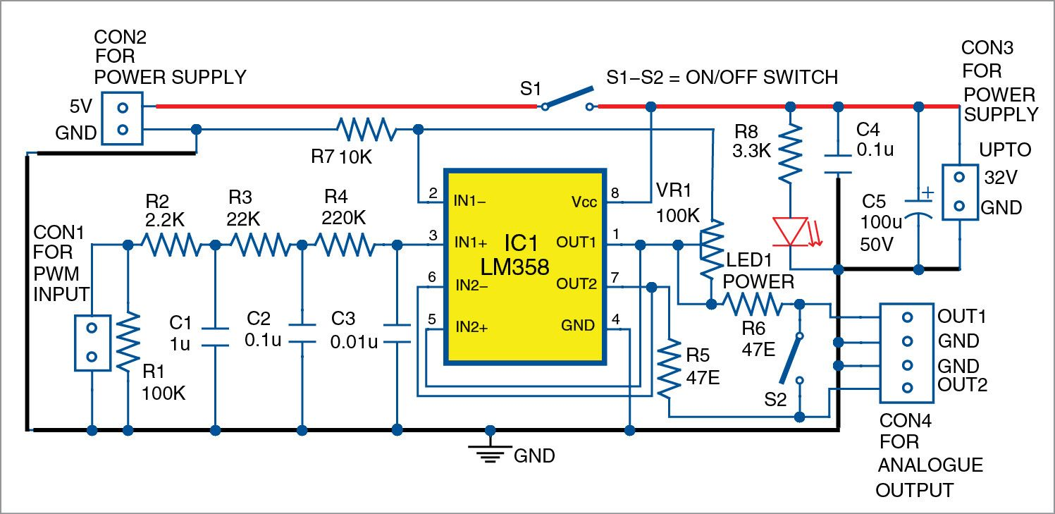 Pwm To Analog Signal Converter Electronics Mini Project Analog Signal Analog Electronics Mini Projects