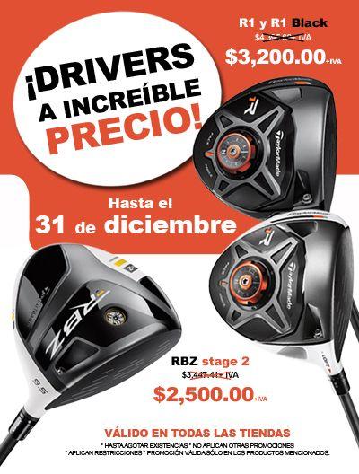 03651c6302bdb Drivers taylormade a increibles precios. Tienda Golf Shop Mexico - Callaway  - Taylor Made - Titleist - Nike Golf - Palos de Golf