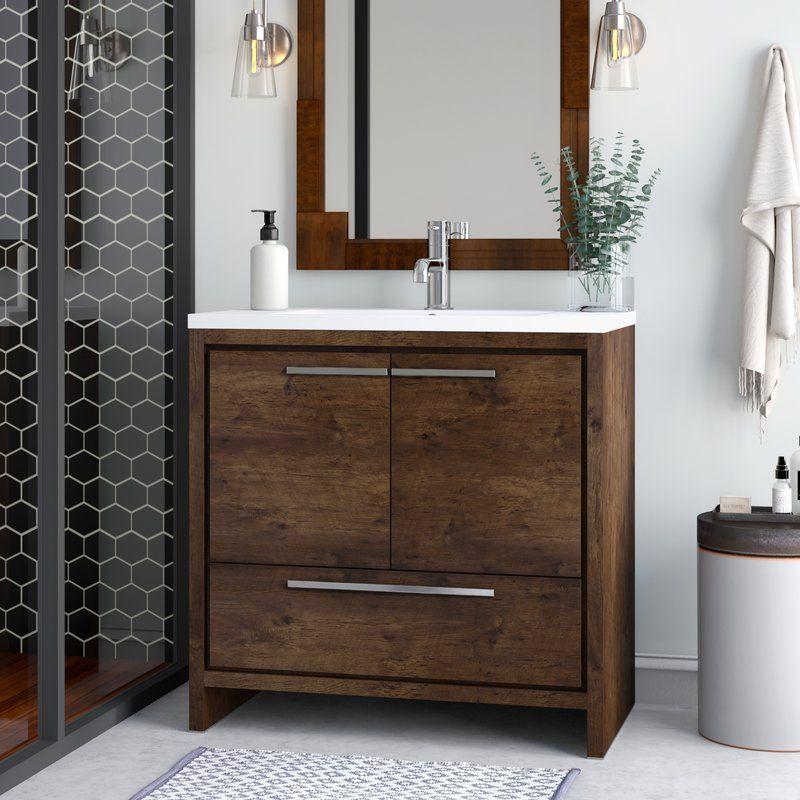 Almendarez Free Standing Modern 36 Single Bathroom Vanity Set With Images Single Bathroom Vanity Bathroom Design Double Vanity Bathroom