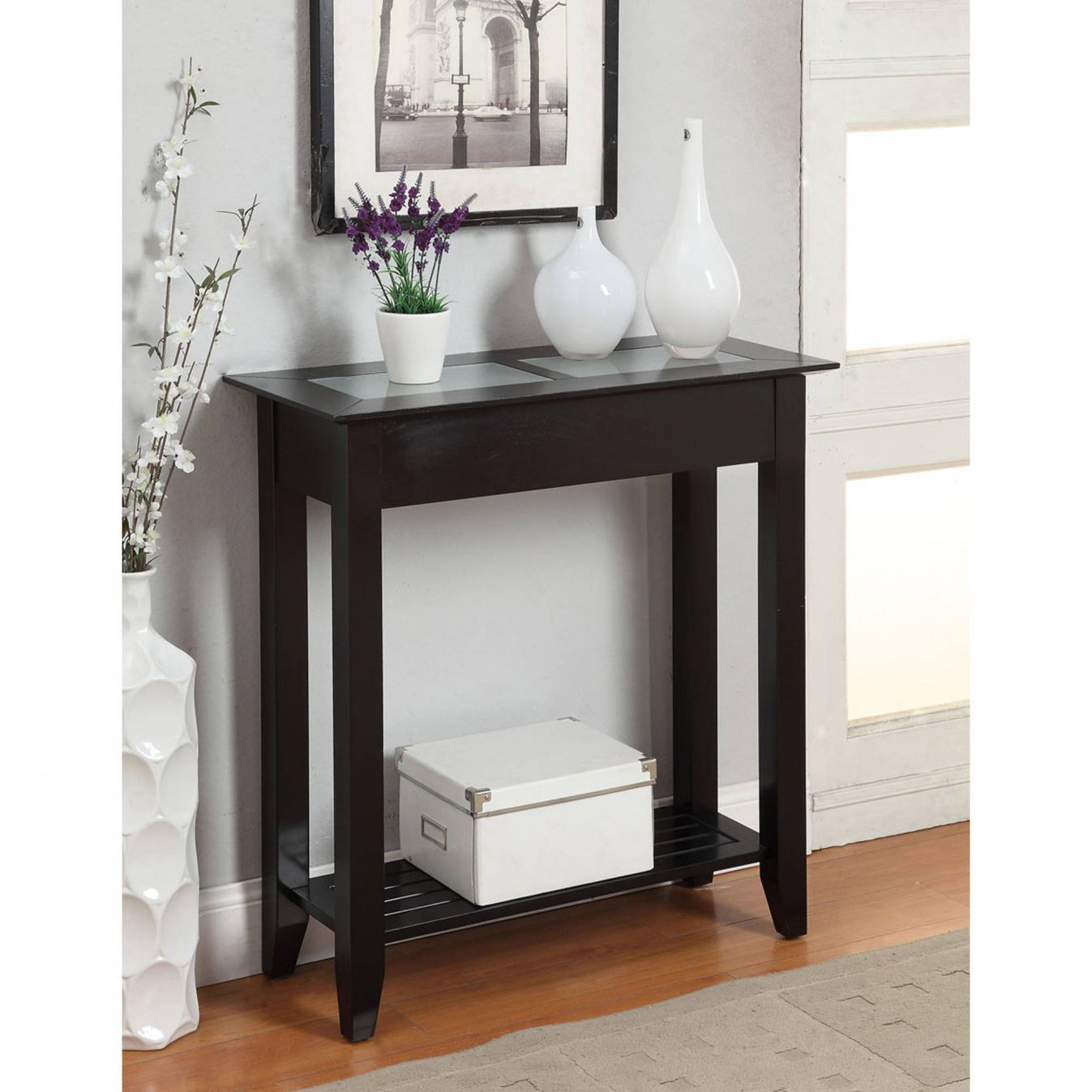 Small Black Hall Table Elite Modern Furniture Check more at http