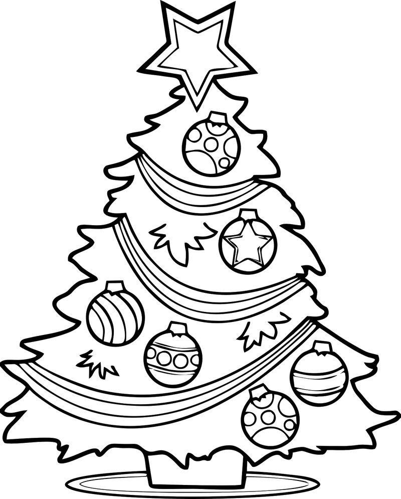 Free Christmas Tree Coloring Page Printable Christmas Tree Coloring Page Christmas Tree Drawing Tree Coloring Page