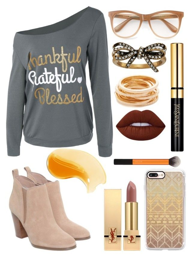 """""""Thankful"""" by ekjohnson1216 on Polyvore featuring Michael Kors, Wildfox, Casetify, Marc Jacobs, Kenneth Jay Lane, Yves Saint Laurent and Lime Crime"""