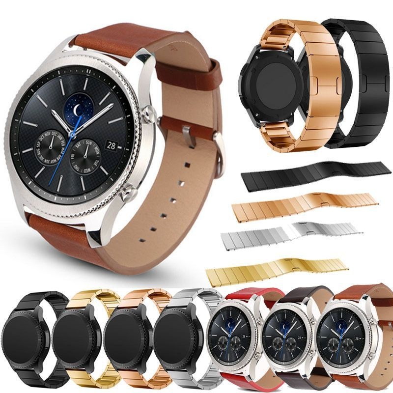 Stainless Steel Watch Band Strap Clasp For Samsung Gear S3 Classic S3 Frontier Watch Bands Stainless Steel Watch Watches