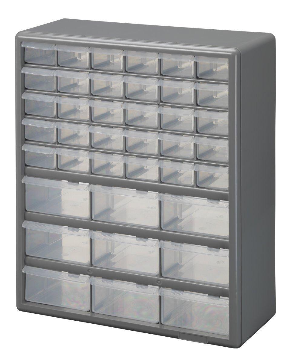 Details About 39 Drawers Garage Storage Organizer Wall Mount Cabinet
