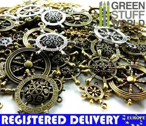 Steampunk CHARMS gear /& cogs - Antique Bronze Findings Set 85gr 7-10 units