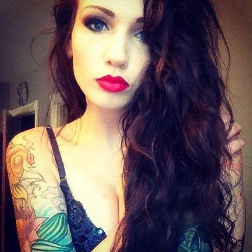 Dark Wavy Red Hair Red Lips Hair Beauty Cat Hair Her Hair