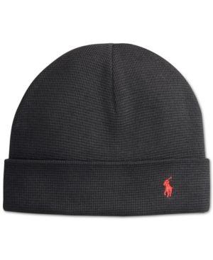 16f9a75df79 Polo Ralph Lauren Thermal Cuffed Beanie - Black Hats Online