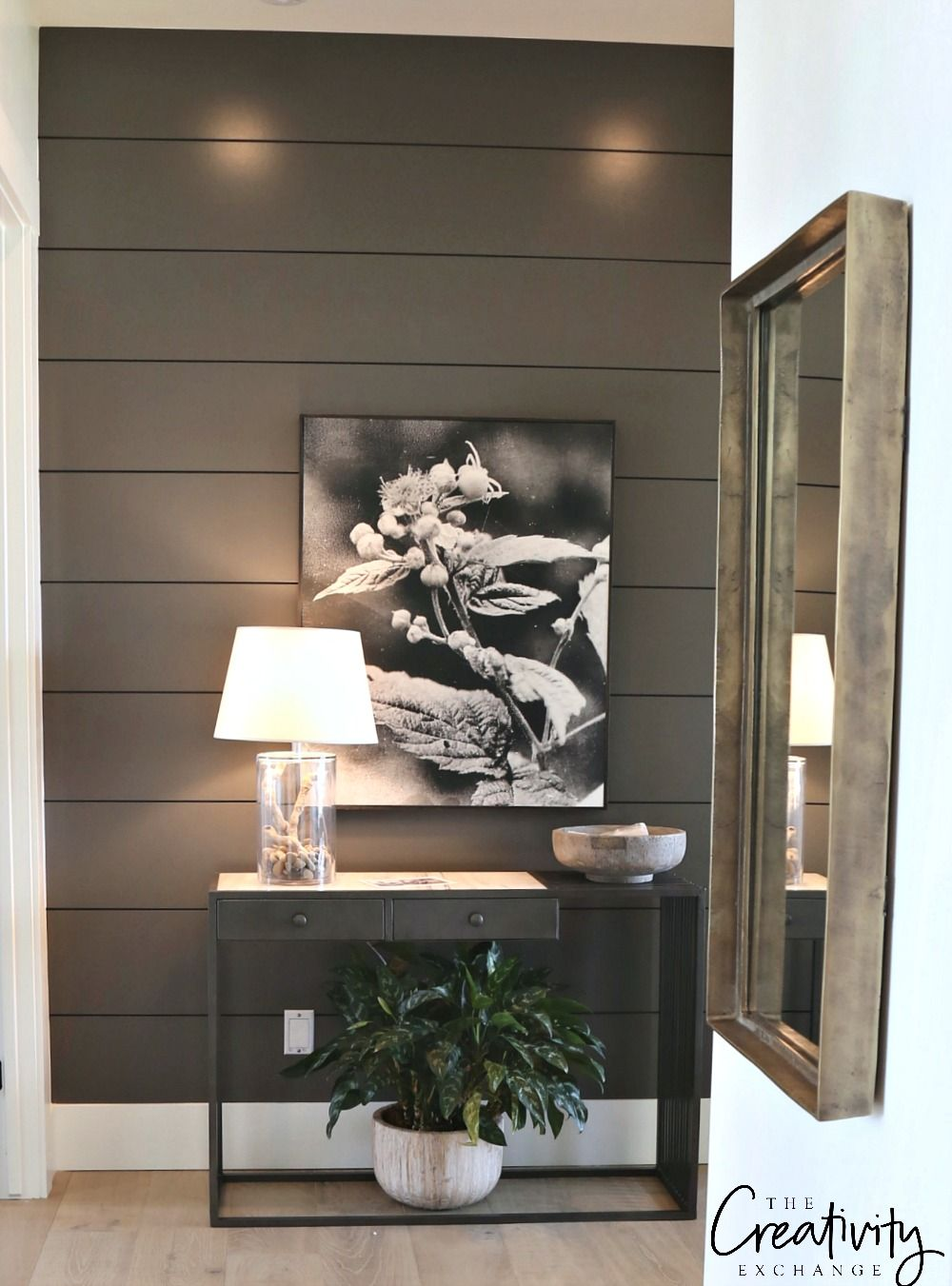 Painted Shiplap Accent Walls in Rich Colors Painting