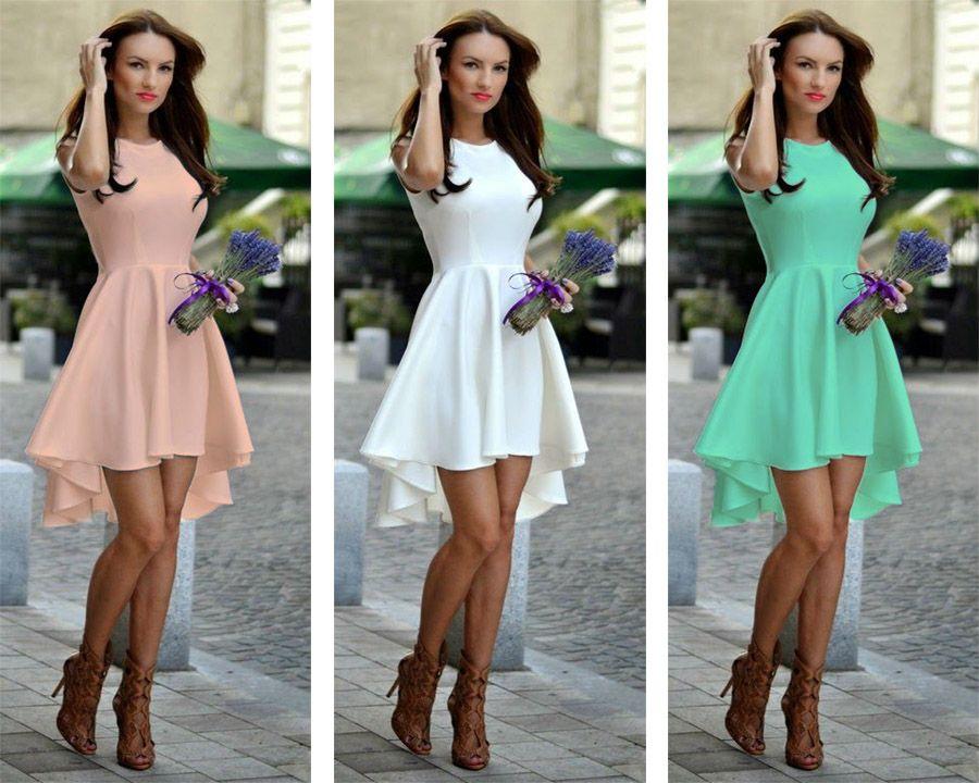 Zwiewna Asymetryczna Rozkloszowana Sukienka H12 5174291971 Oficjalne Archiwum Allegro Dresses Fashion High Low Dress