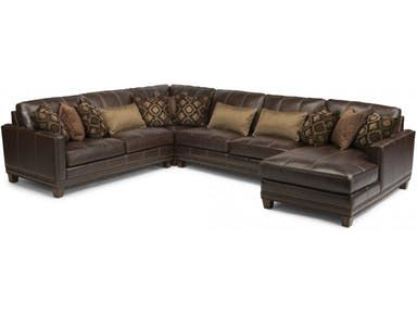 The Leather Sectional Sku 1373 Sect By Flexsteel Is A