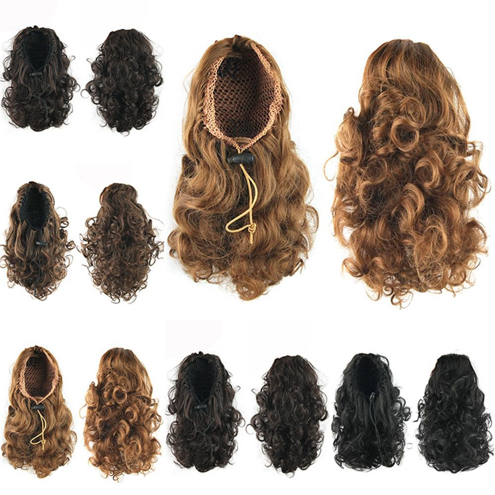 hairpiece curly ponytails synthetic hair ponytail hair extensions