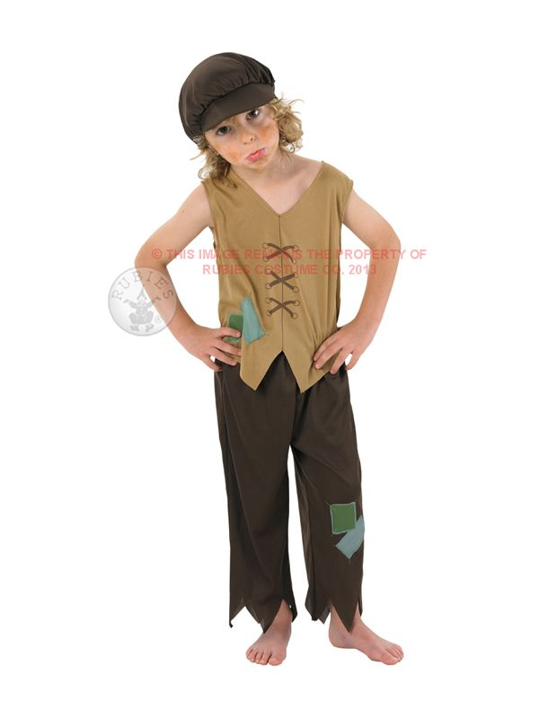 Child Victorian Urchin Poor Boy Fancy Dress Costume Kids Oliver Twist Orphan  sc 1 st  Pinterest : orphan costumes for kids  - Germanpascual.Com