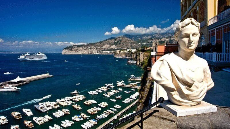 View of the Port of Sorrento from the Grand Hotel Excelsior Vittoria