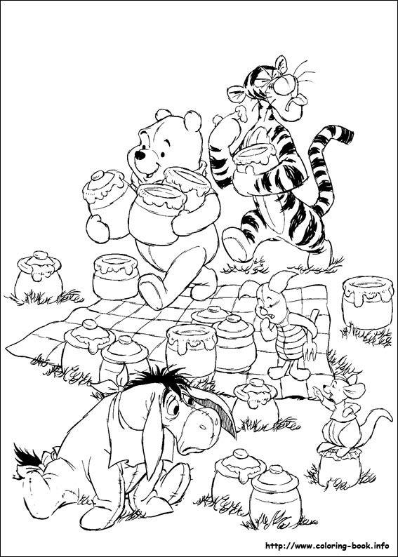 winnie the pooh coloring picture  mandala malvorlagen