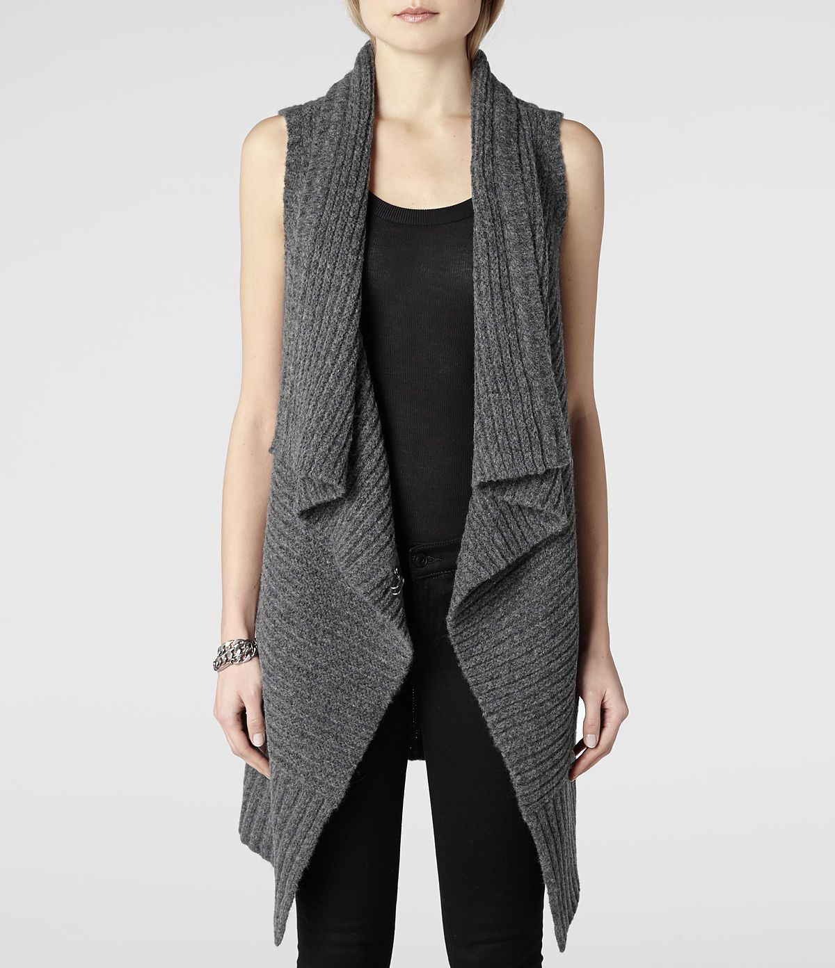 ALLSAINTS | Womens Sleeveless Force Cardigan | Fashion | Pinterest ...