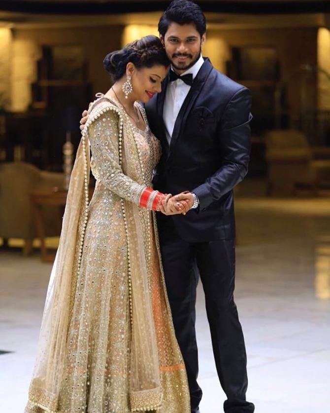 7aa6b823d1 11 TV Celebrities And Their Stunning Wedding Reception Outfits Are Setting  Serious Fashion Goals. 5 TV Celeb Couples And Their Gorgeous Reception  Looks You ...