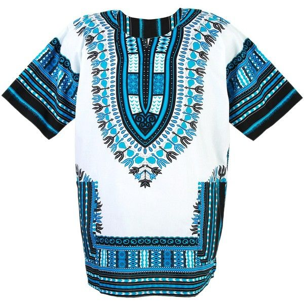 African Dashiki Mexican Poncho Hippie Tribal Ethic Boho Shirt White... ($15) ❤ liked on Polyvore featuring white poncho, hippie poncho and tribal poncho